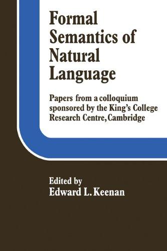 Formal Semantics of Natural Language PDF