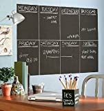 Removable Black Chalkboard Wall Paper/decal School & Home Chalk Blackboard Sticker 78.7 X 17.7 Inch (200 X 45 Cm) Plus 5 Chalks