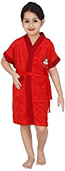 Superior Terry Cloth Red Kids Bathrobe