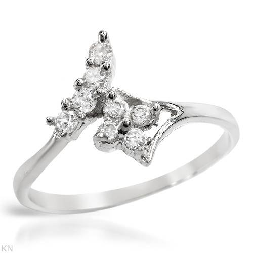 Ring With Cubic zirconia Well Made in 925 Sterling silver (Size 6.5)