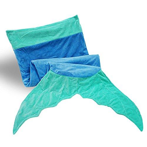 Tysonir Super Soft Shark Sleeping Bag Mermaid Tail Shark Blanket Birthday Present for Boys Girls Christmas gifts (Blue) (Shark Sleeping Bag Pillow compare prices)
