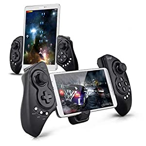 iPega PG-9023 Wireless Gamepad Game Controller, Telescopic Extendable Joystick 5-10 inch Tablets Phones, Compatible PC, Android, Samsung Galaxy Tab S3 S2 Note 9 Galaxy S9+ S8+ Lenovo Huawei
