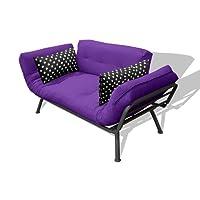 American Furniture Alliance Modern Loft Collection Futon Mali Flex Combo Purpleblack Polka Dot 2 on American Furniture Alliance Mali Flex Futon