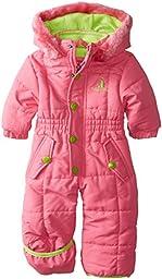 Rugged Bear Baby-Girls Newborn Pretty Solid Snowpram, Strawberry, 0-3 Months