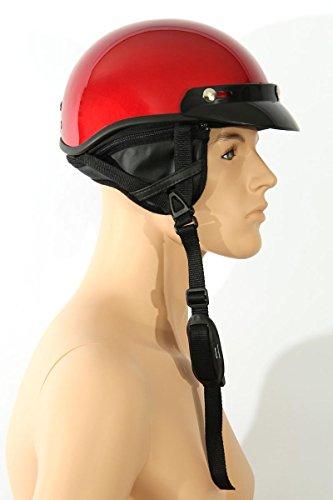 Motorcycle helmet Half shell helmet TC-55 Wine red L ABS, Polycarbon Polystyrene