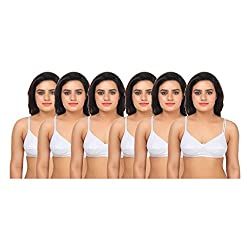 Gujarish White Cotton Bras