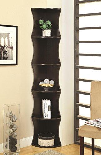 Coaster Home Furnishings 801182 Casual Corner Shelf, Cappuccino