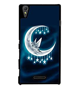 printtech Moon Fairy Stars Back Case Cover for Sony Xperia T3
