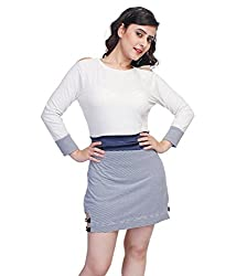 Tryfa Women's Dress (TFDRSR000080-S_White_Small)