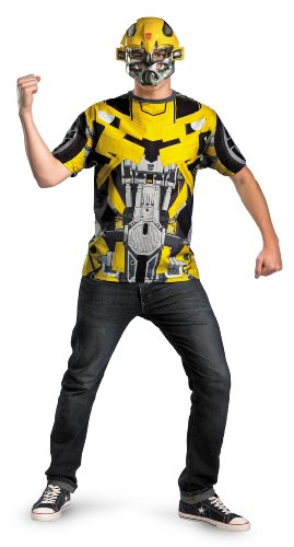 Transformers Dark of the Moon Bumblebee T-Shirt and Mask Halloween Costume - Adult Standard One Size 42-52