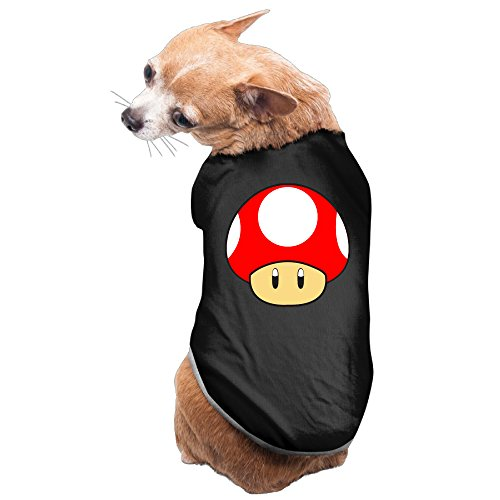 [Bro-Custom Super Cute Mushroom Vest For Pet Size S Black] (Costume Brawl)