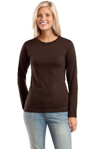District threads ladies long sleeve tee shirt arty dress for Long length long sleeve t shirts