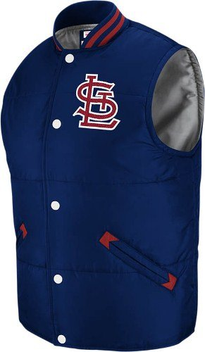 St Louis Cardinals Mitchell & Ness Throwback Snap Vest - Medium at Amazon.com