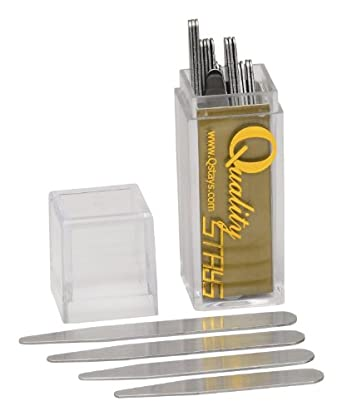 24 Metal Collar Stays in a Clear Plastic Box - 4 Sizes