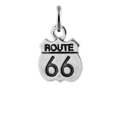 TheCharmWorks Ciondolo Itinerario Route 66 in Argento 925