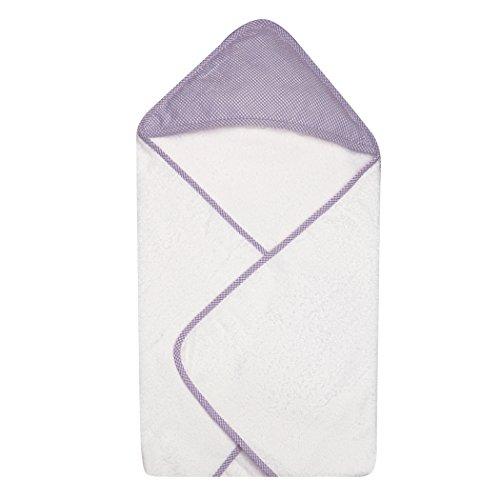 Trend Lab Gingham Seersucker Hooded Towel, Lilac