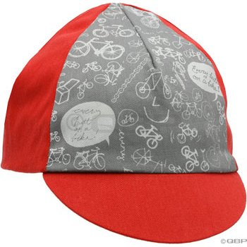 Buy Low Price QBP Traditional Cycling Cap by Pace: Gray/Red (B005J5BOL0)