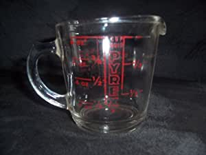 Amazon Com Vintage 1940s Glass Pyrex Measuring Cup 1 Cup