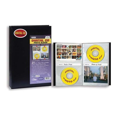 Pioneer Digital Cd Photo Album, Holds 48 Cds, Dvds Or Prints, Two Pockets Per Page, Solid Color Covers.
