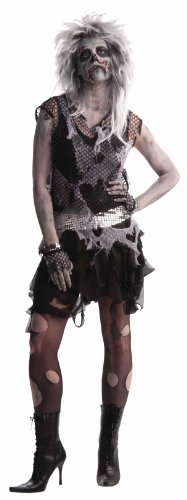 Woman's Zombie Punk Costume, Black/Gray,