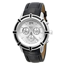 Love Peace and Hope Midsize LPE07 Time for Peace Black Chronograph Watch