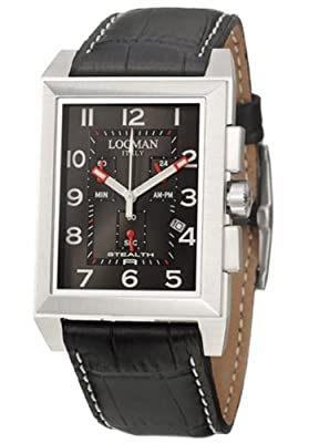 Locman Sport Stealth Rectangular Men's Quartz Watch 242BK2BK