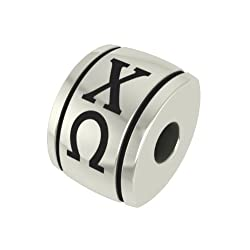 Chi Omega Barrel Sorority Bead Fits Most Pandora Style Bracelets Including Pandora Chamilia Biagi Zable Troll and More. High Quality Bead in Stock for Immediate Shipping