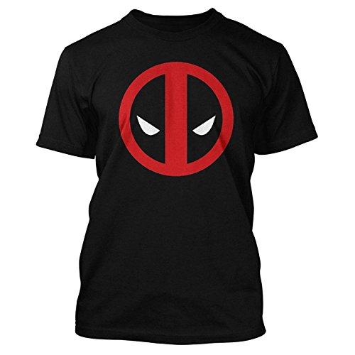 Marvel-Comics-Deadpool-para-hombre-T-Shirt-Classic-Deadpool-Logo-negro