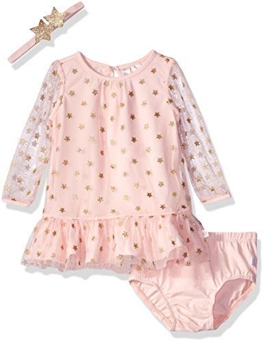 Rosie Pope Baby Girls Foil Printed Dress with Star Headband