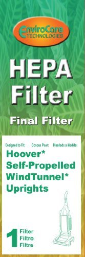 Final Filter for Hoover Windtunnel Pleated HEPA w/activated Charcoal Vacuum Filter, Upright, Self propelled Vacuum Cleaners (Vacuum Cleaner Self Propelled compare prices)