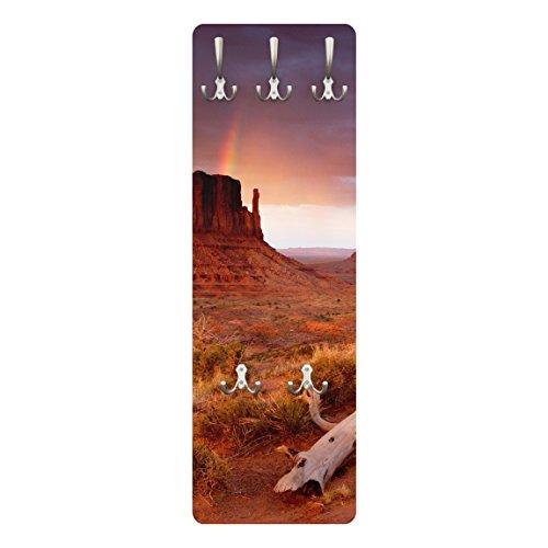 Appendiabiti - Monument Valley at sunset 139x46x2cm, appendiabiti a muro, appendiabiti da muro, appendiabiti da parete, appendiabiti design