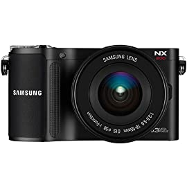Samsung NX200 Mirrorless Digital Camera with 18-55mm Lens (Black)