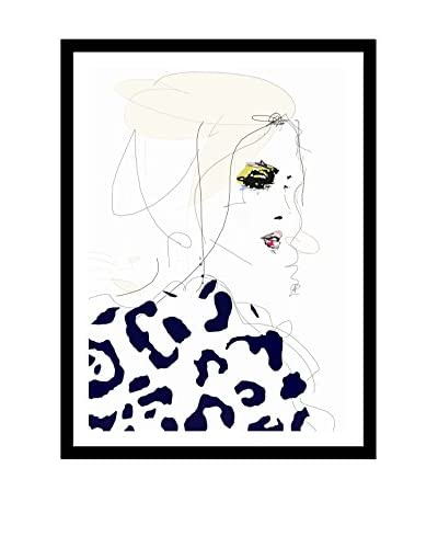 "Leigh Viner ""Draw The Line"" Artwork on Framed Paper"