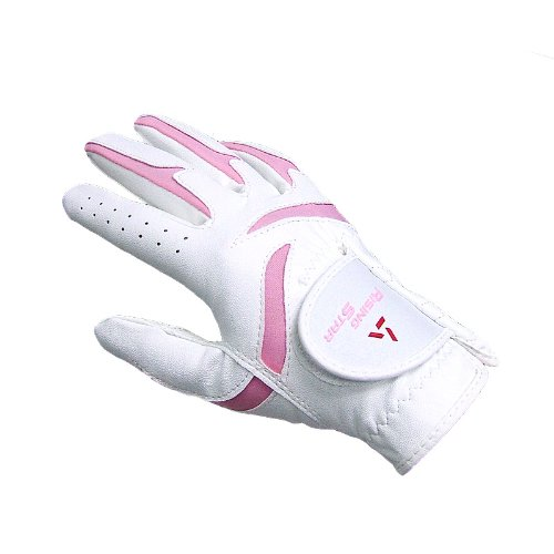 Paragon Golf Girls Rising Star Right Hand Golf Glove, White/Pink - Small