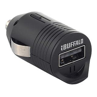 iBUFFALO 【クルマのシガーソケットから充電できる 超小型USBシガーチャージャー スマートフォン全キャリア・全機種対応(iPhone5,iPhone4S動作確認済)】 シガー充電アダプター1ポートタイプ ブラック BSMPA07BK
