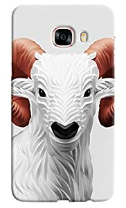 Omnam Sheep With Effect Printed Designer Back Cover Case For Samsung Galaxy C7