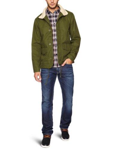 Levi's Washed Cotton Short Field Jacket Men's Jacket Riffle Green Large