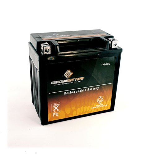 YTX14-BS High Performance - Maintenance Free - Sealed AGM Motorcycle Battery (Honda Foreman 500 Battery compare prices)