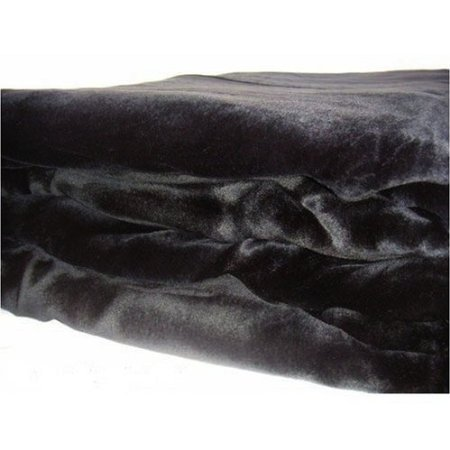 Buy Discount Beautiful Soft Mink Solid Black Blanket Queen or Full Bed - Black