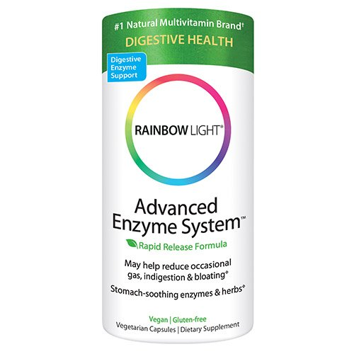 Rainbow Light Advanced Enzyme System Plant-Source 180 Vcaps