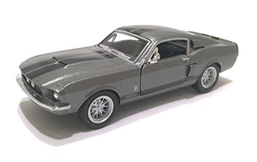 Scale 1/38 1967 Ford Shelby Mustang GT-500 diecast car Grey
