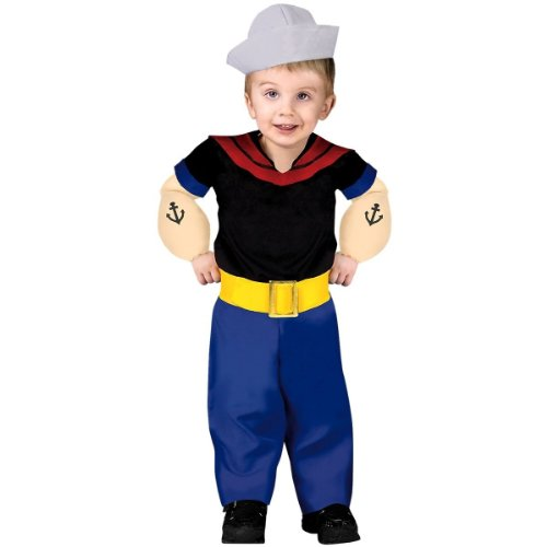 Toddler Popeye Costume Size 3T-4T