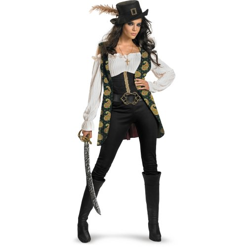 Disguise Women's Pirates Of The Caribbean - Angelica Deluxe Adult Costume