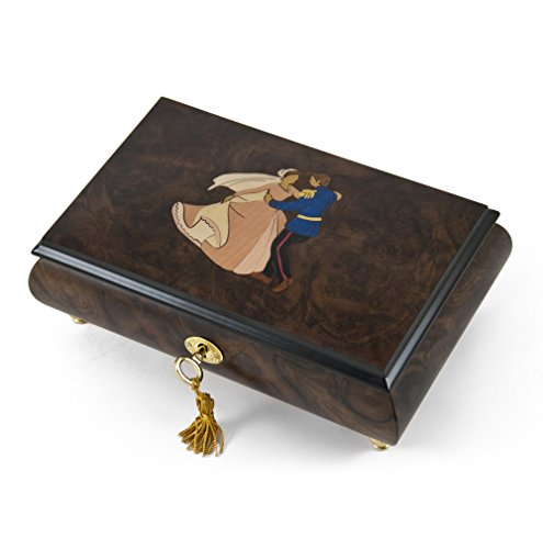 Romantic Fairy Tale Prince and Princess Waltz Musical Jewelry Box with 18 Note Tune-Take Me Home Country Roads (John Denver)