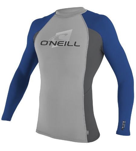 O'Neill Wetsuits Basic Skins Long Sleeve Crew, BL_GRAY - Medium (Wet Shirt compare prices)