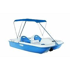 Buy Pelican Monaco Deluxe Pedal Boat, White Blue by Pelican