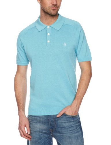 Original Penguin Shortsleeve Saddle Raglan Polo Men's T-Shirt Maui Blue Medium