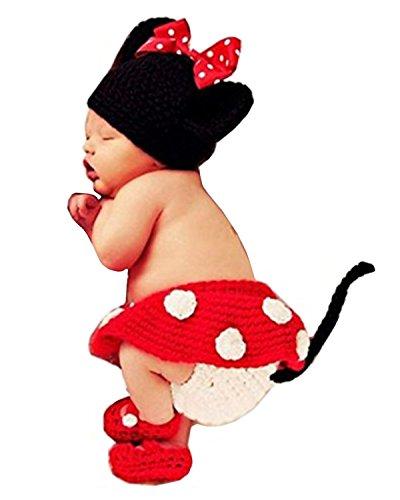 Mixmax Fashion Unisex Newborn Boy Girl Crochet Knitted Baby Costume Set