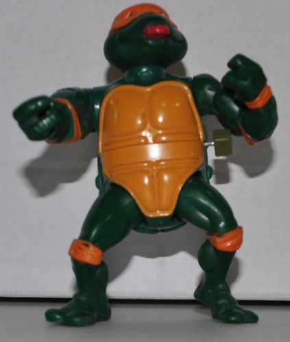 Vintage Rock 'N Roll Michaelangelo (1989 Wacky Action) - Action Figure - Playmates - TMNT - Teenage Mutant Ninja Turtles Collectible Figure - Loose Out of Package & Print (OOP) - 1