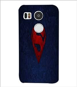 PrintDhaba Superman Logo D-2334 Back Case Cover for LG NEXUS 5X (Multi-Coloured)